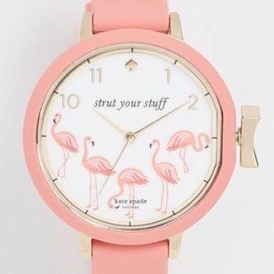 Kate Spade Flamingo Strut Your Stuff Watch